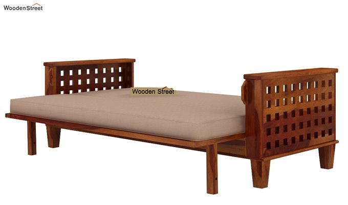 Cyprus Sofa Cum Bed (King Size, Honey Finish)-8