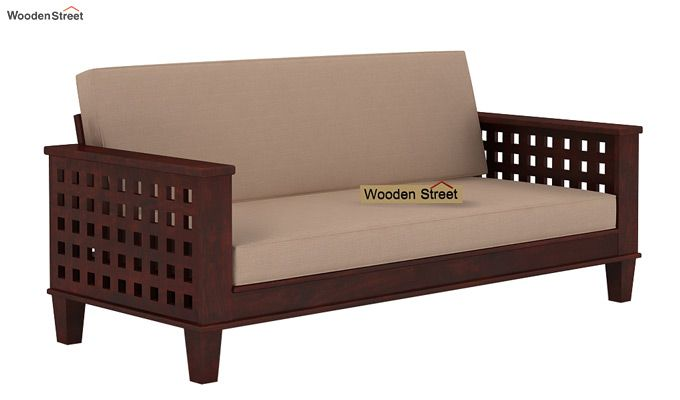 Cyprus Sofa Cum Bed (King Size, Mahogany Finish)-1