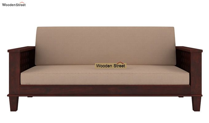 Cyprus Sofa Cum Bed (King Size, Mahogany Finish)-2