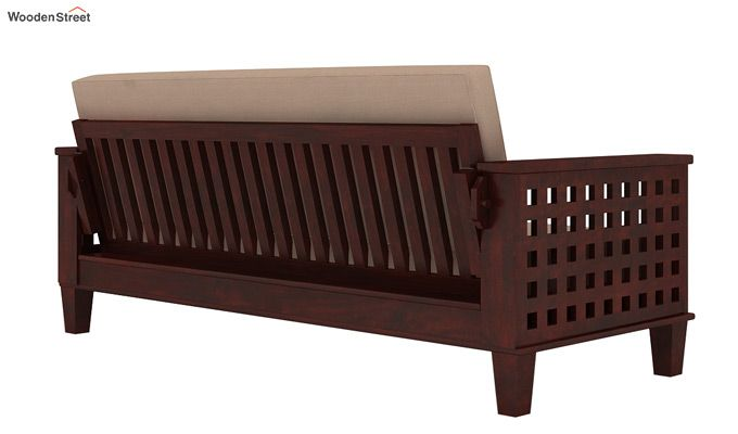 Cyprus Sofa Cum Bed (King Size, Mahogany Finish)-3