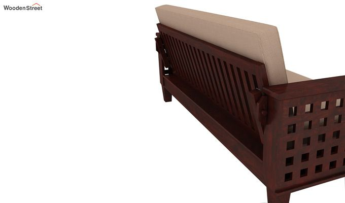 Cyprus Sofa Cum Bed (King Size, Mahogany Finish)-4