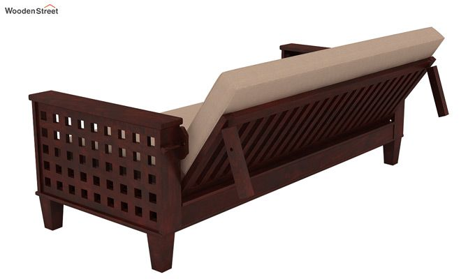 Cyprus Sofa Cum Bed (King Size, Mahogany Finish)-5
