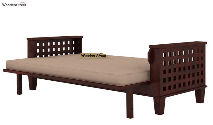 Cyprus Sofa Cum Bed (King Size, Mahogany Finish)-6