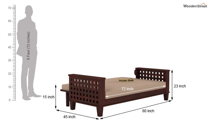 Cyprus Sofa Cum Bed (King Size, Mahogany Finish)-10