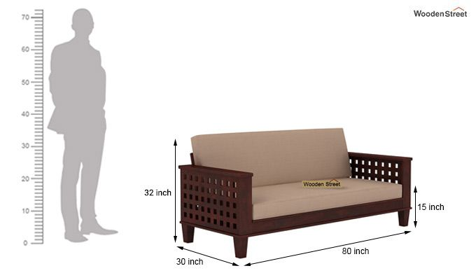Cyprus Sofa Cum Bed (King Size, Mahogany Finish)-9