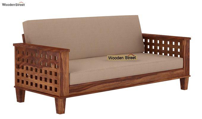Cyprus Sofa Cum Bed (King Size, Teak Finish)-1