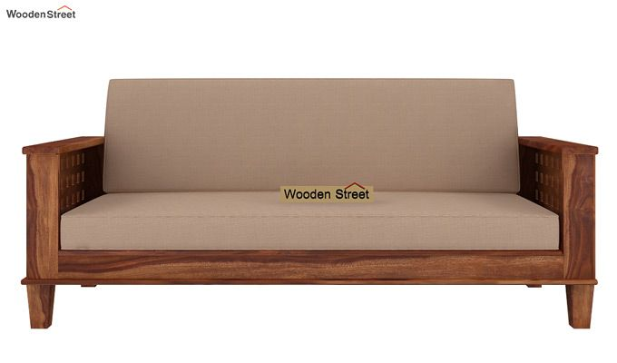 Cyprus Sofa Cum Bed (King Size, Teak Finish)-2
