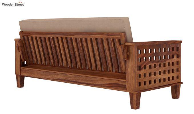 Cyprus Sofa Cum Bed (King Size, Teak Finish)-3