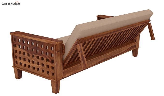 Cyprus Sofa Cum Bed (King Size, Teak Finish)-5