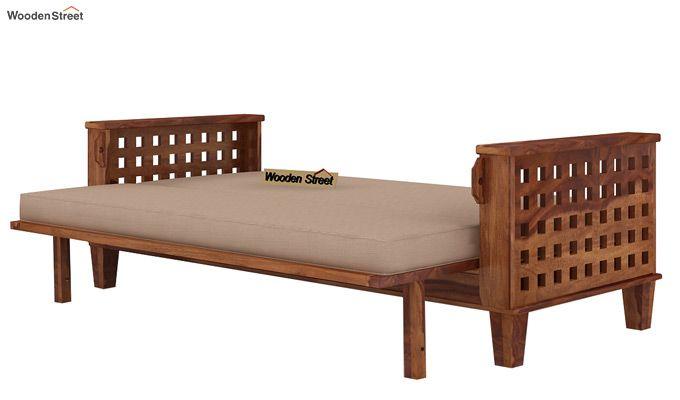 Cyprus Sofa Cum Bed (King Size, Teak Finish)-6