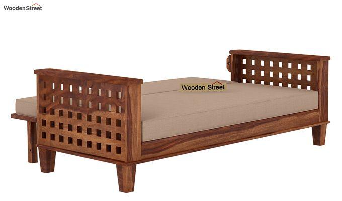 Cyprus Sofa Cum Bed (King Size, Teak Finish)-7