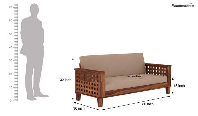 Cyprus Sofa Cum Bed (King Size, Teak Finish)-9