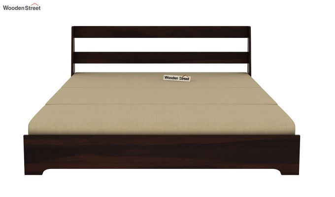 Della Sofa Cum Bed Without Armrests (Walnut Finish)-8