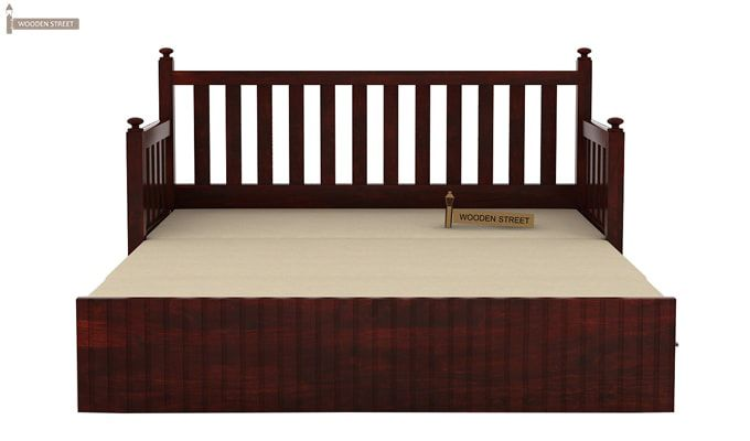 Erika Sofa With Bed (King Size, Mahogany Finish)-6