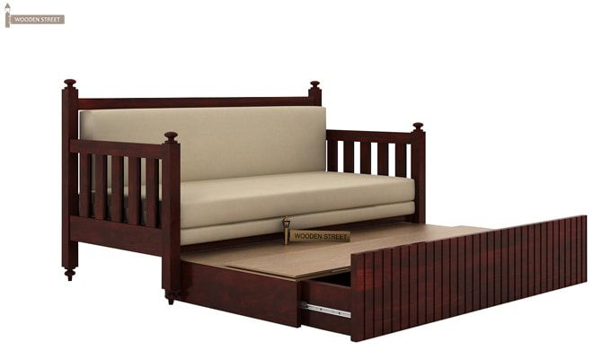 Erika Sofa With Bed (Queen Size, Mahogany Finish)-5