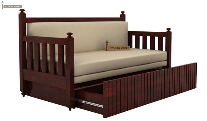 Erika Sofa With Bed (King Size, Mahogany Finish)-3