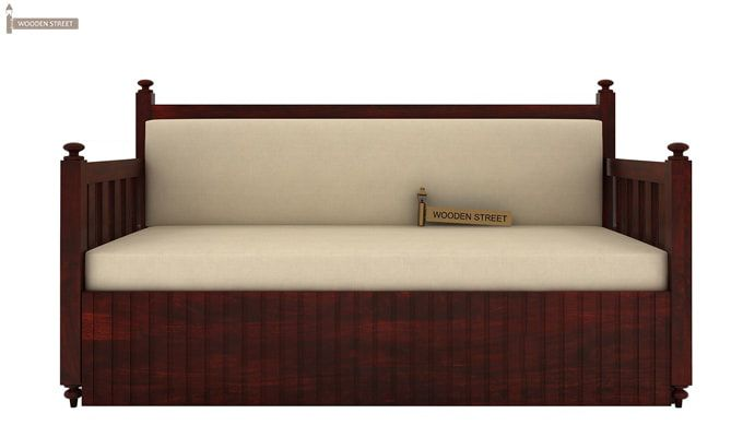 Erika Sofa With Bed (Queen Size, Mahogany Finish)-1