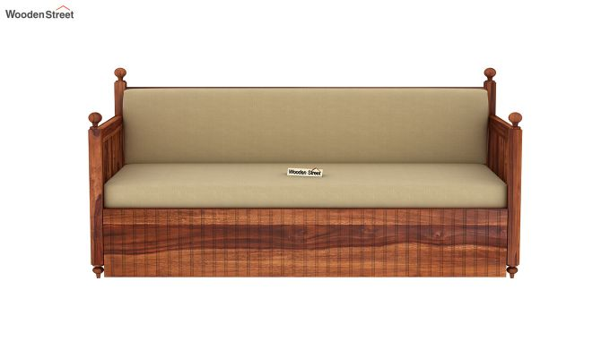 Erika Sofa With Bed (King Size, Honey Finish)-4