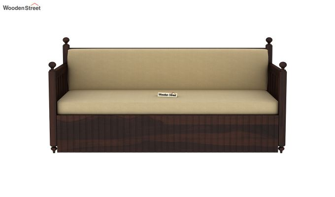 Erika Sofa With Bed (Queen Size, Walnut Finish)-4