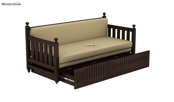 Erika Sofa With Bed (King Size, Walnut Finish)-5