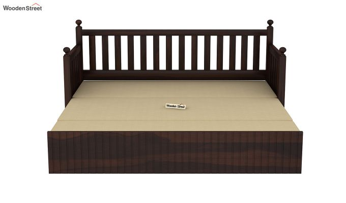 Erika Sofa With Bed (Queen Size, Walnut Finish)-8