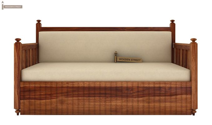 Erika Sofa With Bed (King Size, Teak Finish)-2