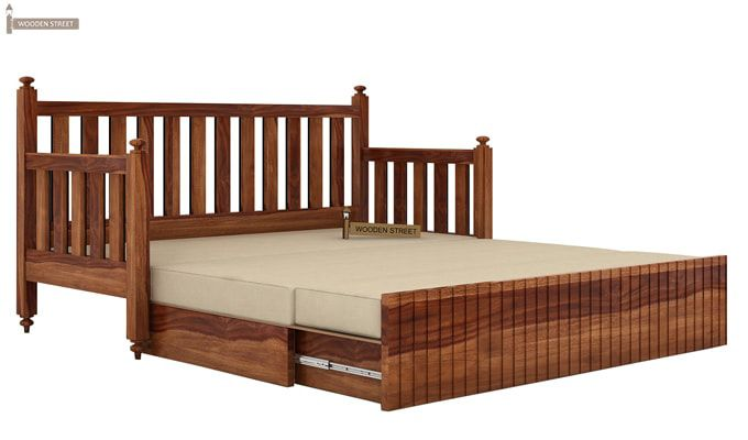Erika Sofa With Bed (Queen Size, Teak Finish)-6