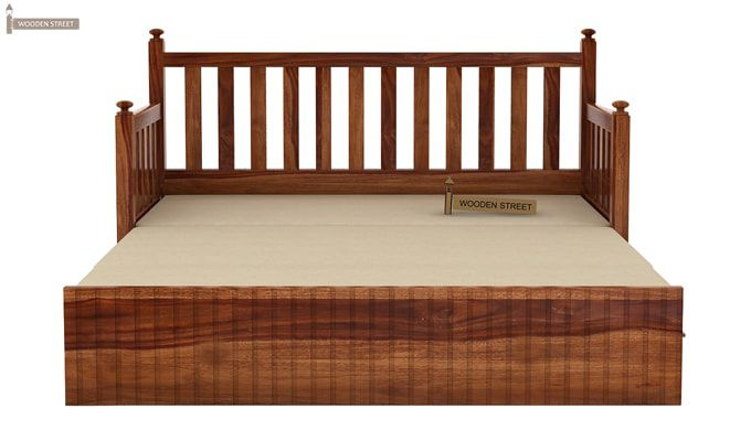 Erika Sofa With Bed (King Size, Teak Finish)-7