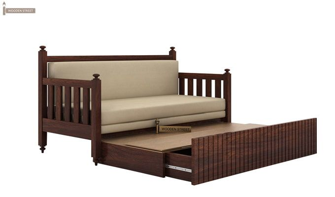 Erika Sofa With Bed (Queen Size, Walnut Finish)-5