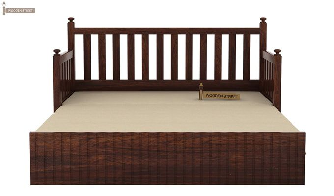 Erika Sofa With Bed (Queen Size, Walnut Finish)-7