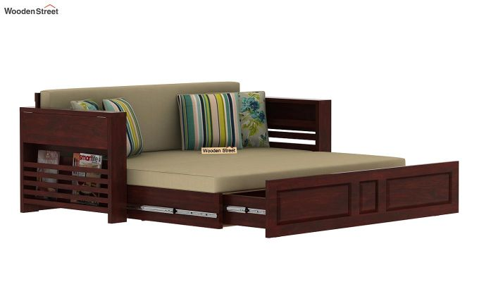 Feltro Bed Cum Sofa (King Size, Mahogany Finish)-13
