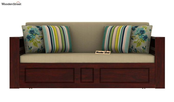 Feltro Bed Cum Sofa (King Size, Mahogany Finish)-4