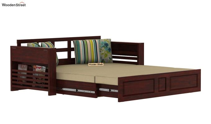 Feltro Bed Cum Sofa (King Size, Mahogany Finish)-7