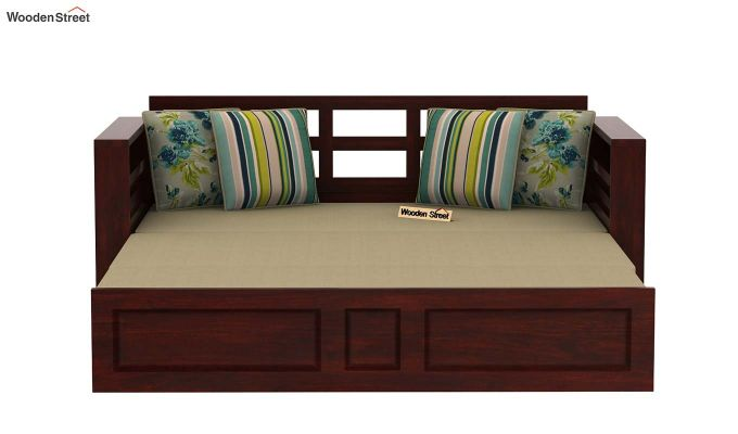 Feltro Bed Cum Sofa (King Size, Mahogany Finish)-8