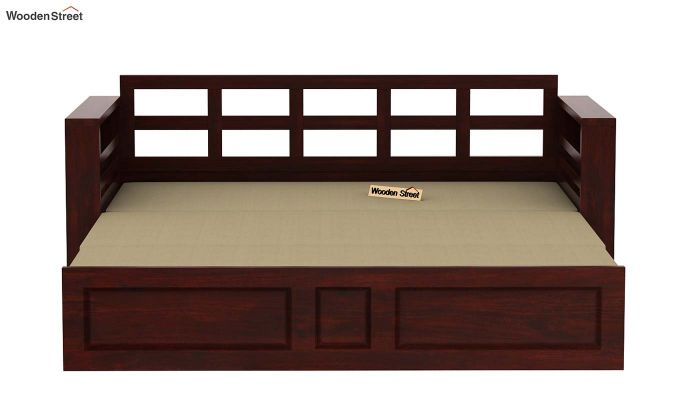 Feltro Bed Cum Sofa (King Size, Mahogany Finish)-11