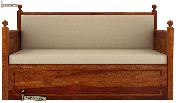 Gerrick Sofa Cum Bed (King Size, Honey Finish)-2