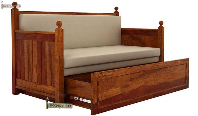 Gerrick Sofa Cum Bed (King Size, Honey Finish)-3