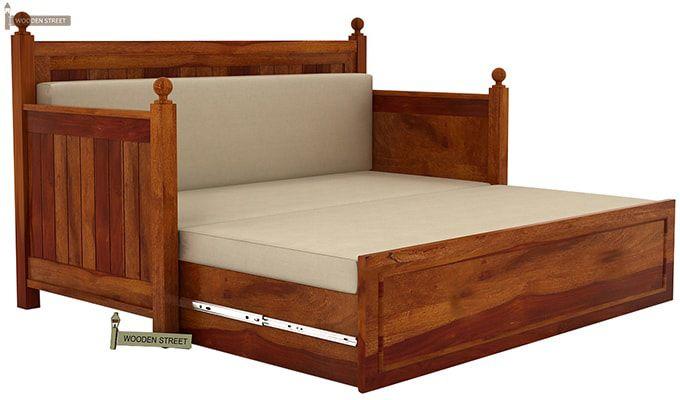 Gerrick Sofa Cum Bed (King Size, Honey Finish)-4
