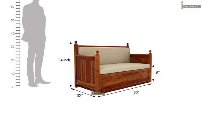 Gerrick Sofa Cum Bed (Queen Size, Honey Finish)-7