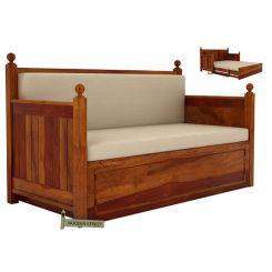 Gerrick Sofa Cum Bed (Queen Size, Honey Finish)