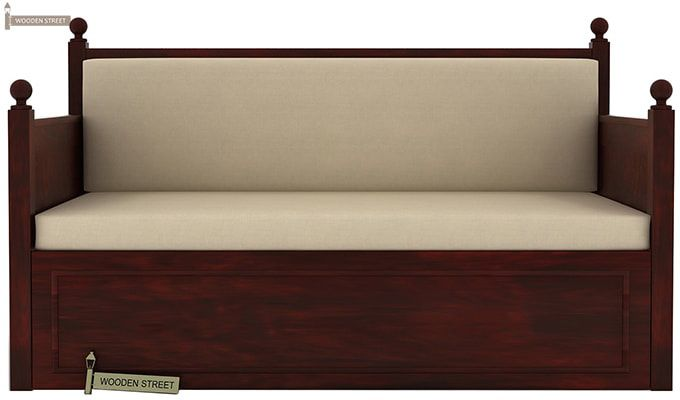 Gerrick Sofa Cum Bed (King size, Mahogany Finish)-1