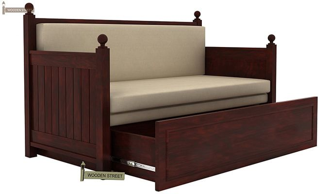 Gerrick Sofa Cum Bed (King size, Mahogany Finish)-3
