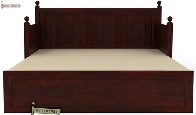Gerrick Sofa Cum Bed (Queen Size, Mahogany Finish)-6