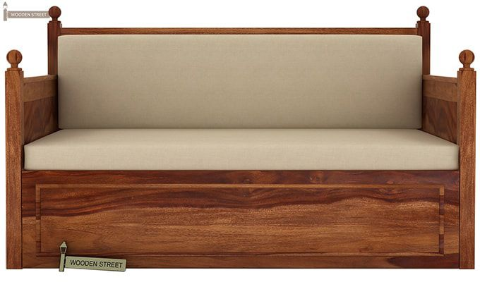 Gerrick Sofa Cum Bed (Queen Size, Teak Finish)-3