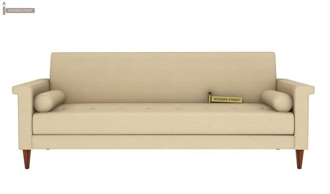 Hover Fabric Sofa Cum Bed (Ivory)-1