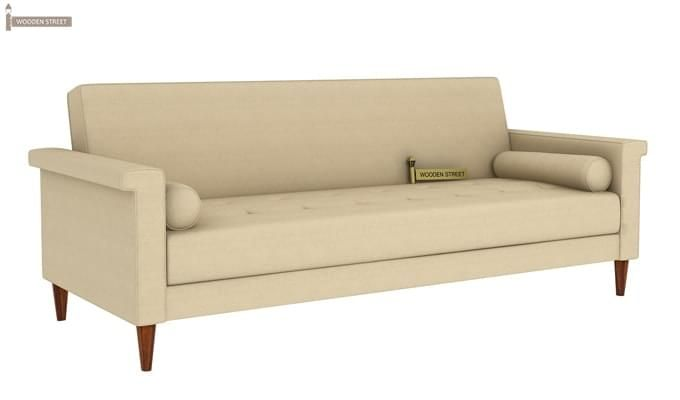 Hover Fabric Sofa Cum Bed (Ivory)-2