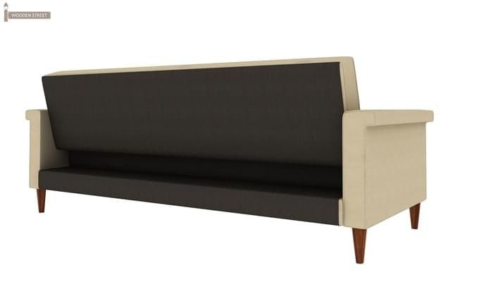 Hover Fabric Sofa Cum Bed (Ivory)-3