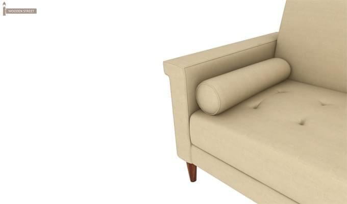 Hover Fabric Sofa Cum Bed (Ivory)-4