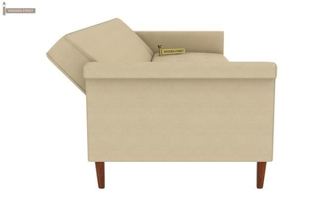Hover Fabric Sofa Cum Bed (Ivory)-5