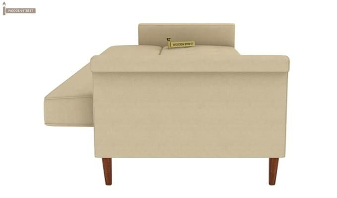 Hover Fabric Sofa Cum Bed (Ivory)-6